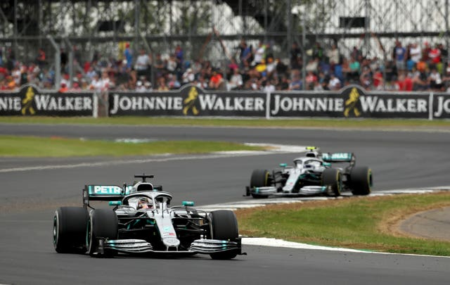 Lewis Hamilton led Mercedes  home with team-mate Valtteri Bottas second