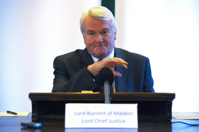 Lord Chief Justice press conference