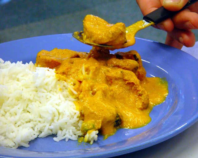 The ingredients of chicken tikka masala could be affected by climate change (Martin Keene/PA)