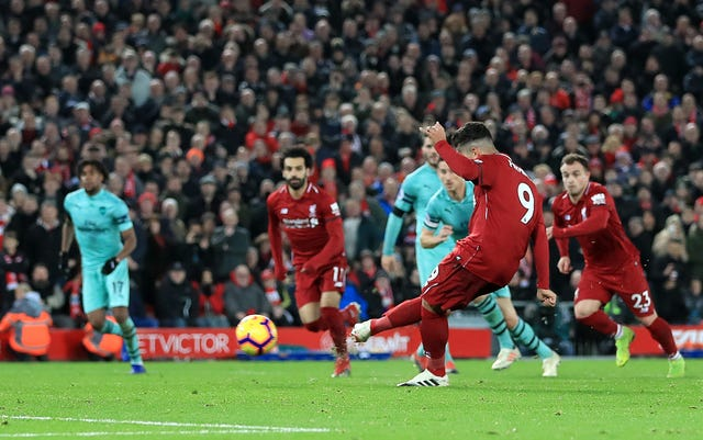Roberto Firmino scored a hat-trick against Arsenal at Anfield last season