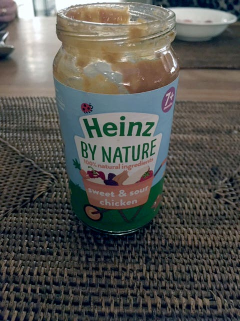 The jar of Heinz baby food that was allegedly laced with fragments of a craft knife