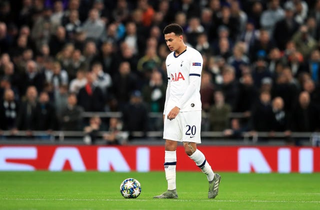 Dele Alli was slow to react before Olympiacos' second goal