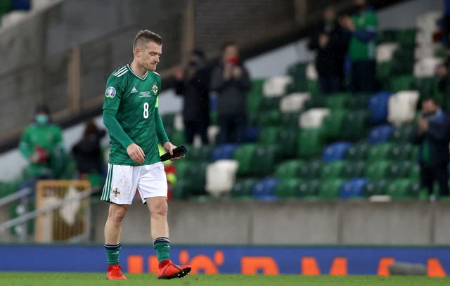 Northern Ireland were left crestfallen after their the Euro 2020 play-off defeat by Slovakia at Windsor Park