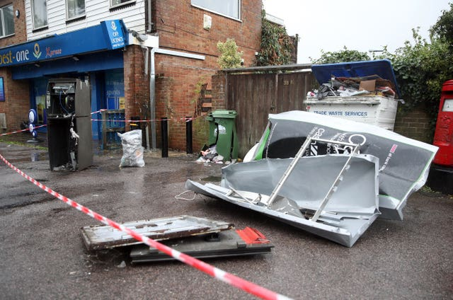 Cash machine blown up in Southampton