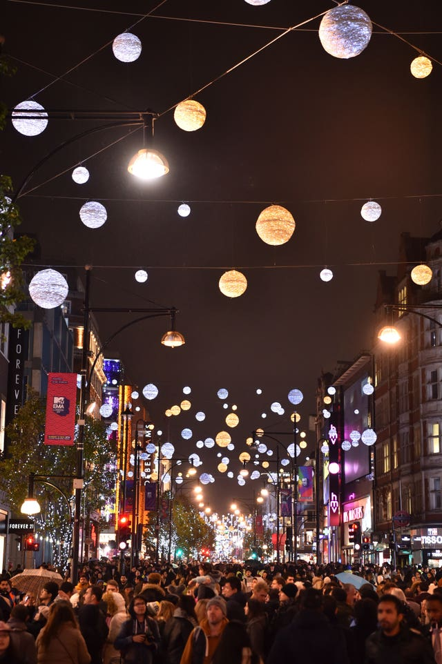 Oxford Street Christmas Lights 2017