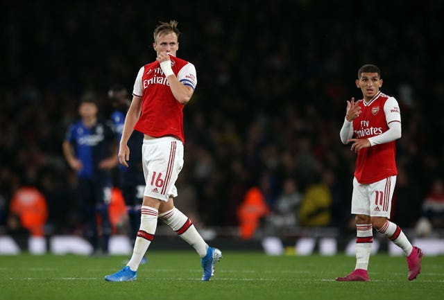 Holding scored on his Arsenal return against Nottingham Forest in the Carabao Cup