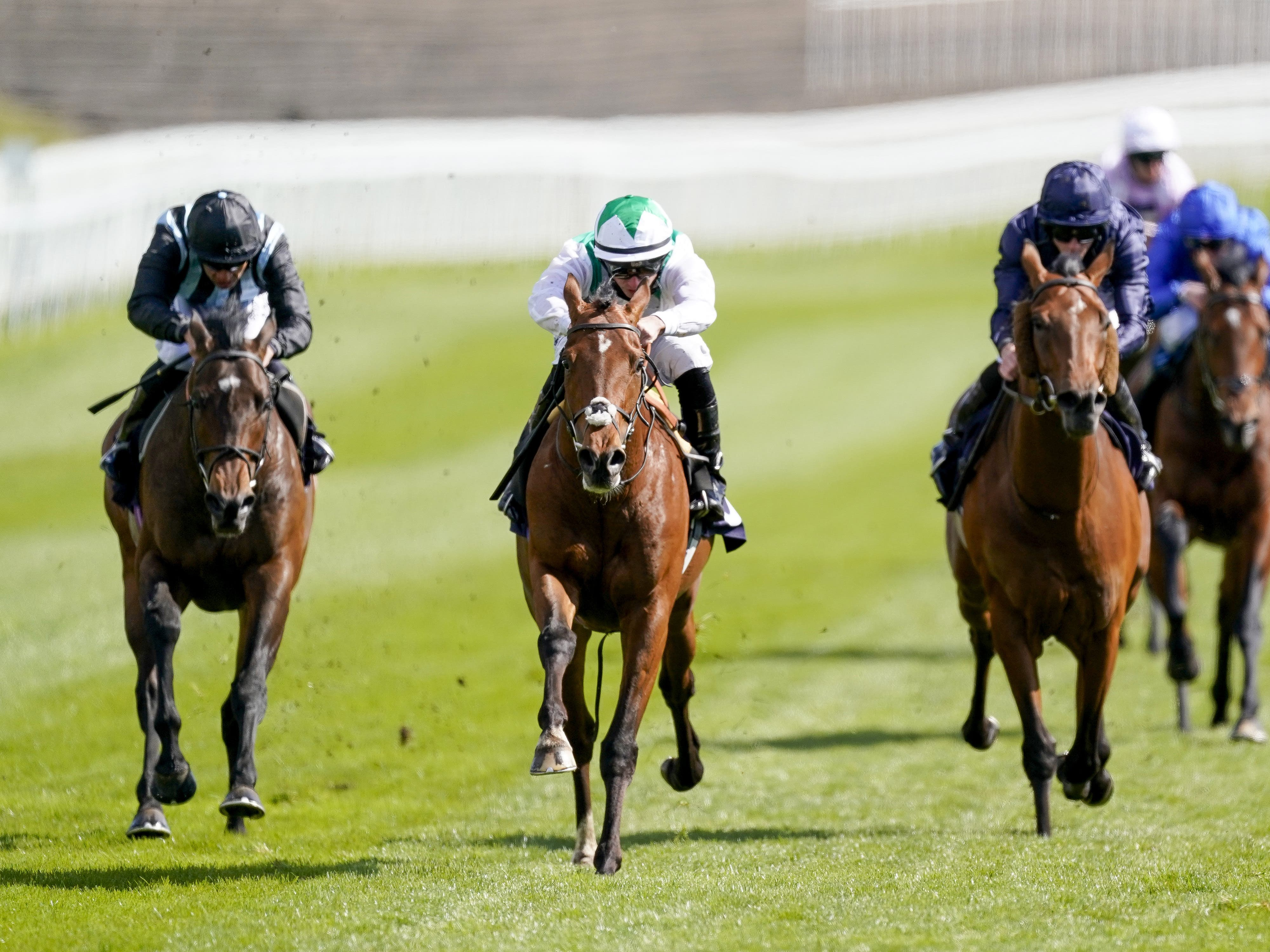 Youth Spirit (centre) booked his Cazoo Derby ticket at Chester (Alan Crowhurst/PA)
