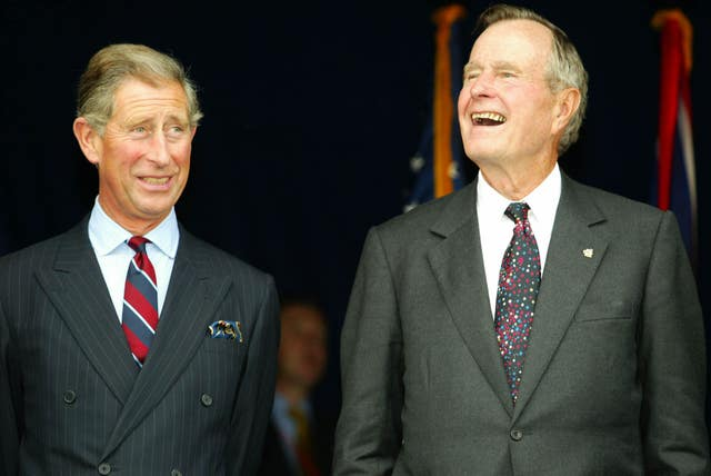 Prince of Wales with George Bush