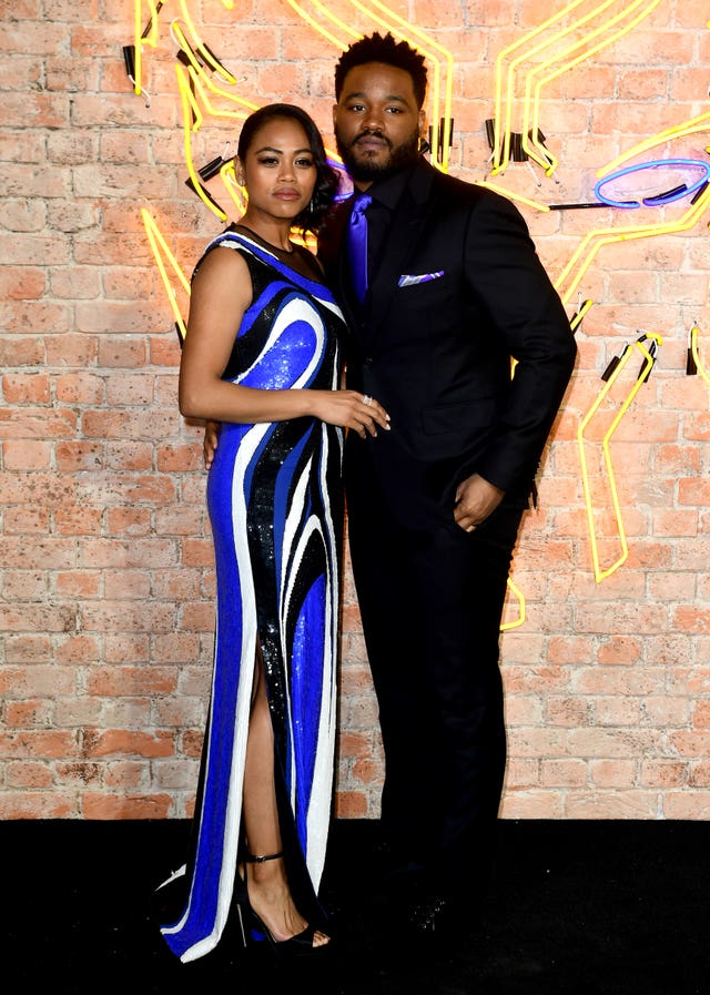 Black Panther director Ryan Coogler, with wife Zinzi Evans (Ian West/PA)