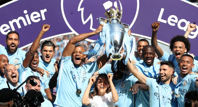 Manchester City powered to Premier League title glory
