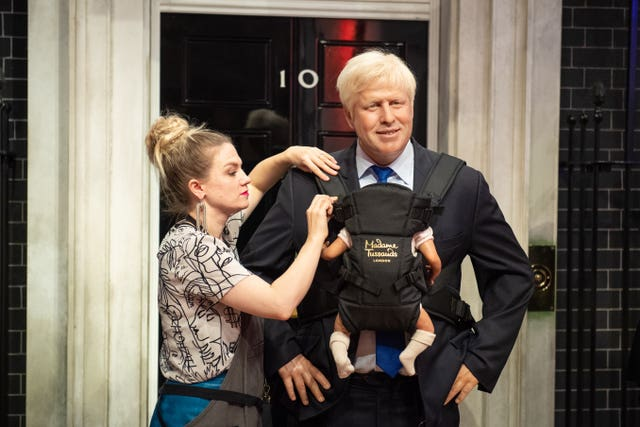 Boris Johnson wax model