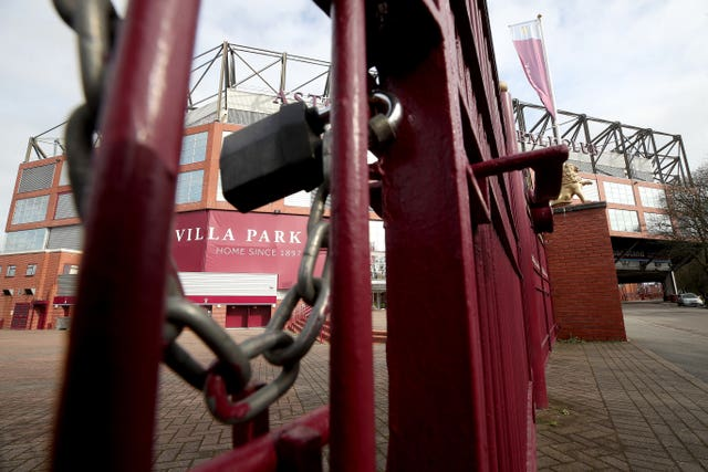 The gates will be locked for fans for the rest of the 2019-20 Premier League season