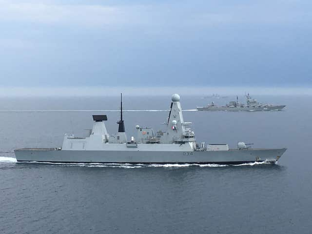 Russian warships in English Channel