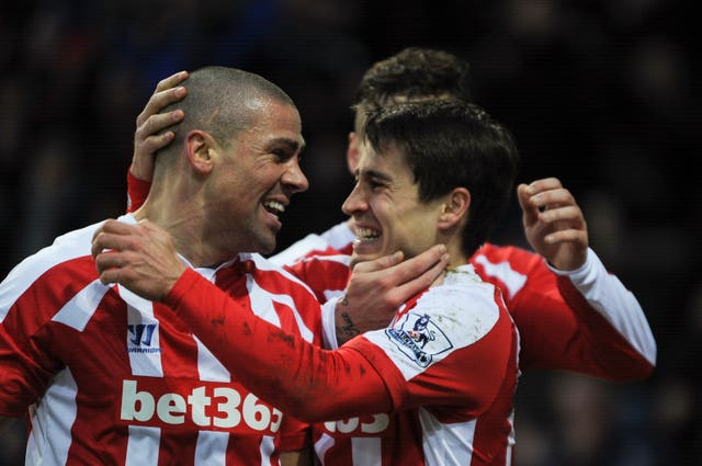 Jon Walters, left, scored 62 times in 271 appearances for Stoke (Jon Buckle/PA)