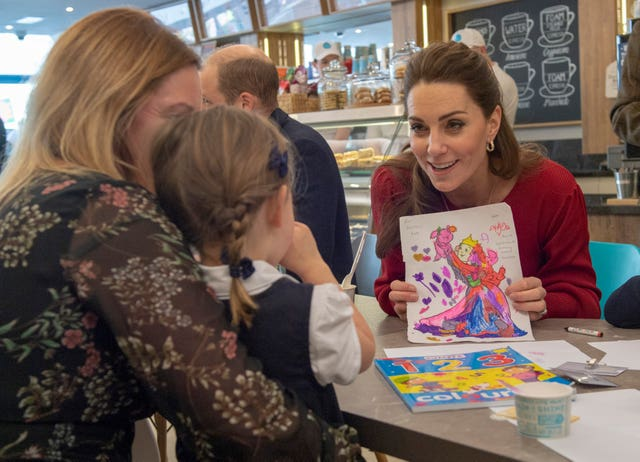 Kate meeting a group of parents and carers in south Wales