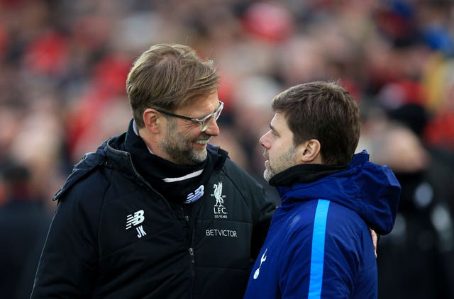 Jurgen Klopp (left) and Mauricio Pochettino. (PA)