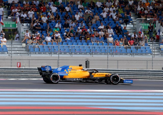 Carlos Sainz finished sixth in France