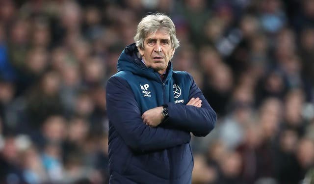 West Ham United manager Manuel Pellegrini (Chris Radburn/PA).