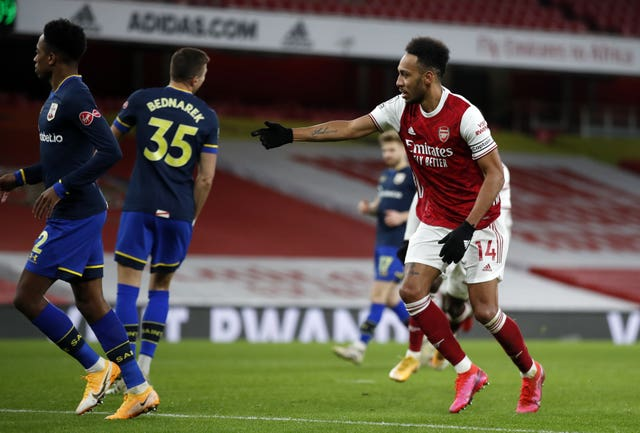 Aubameyang's goal in the recent draw against Southampton was just his third Premier League goal of the season.