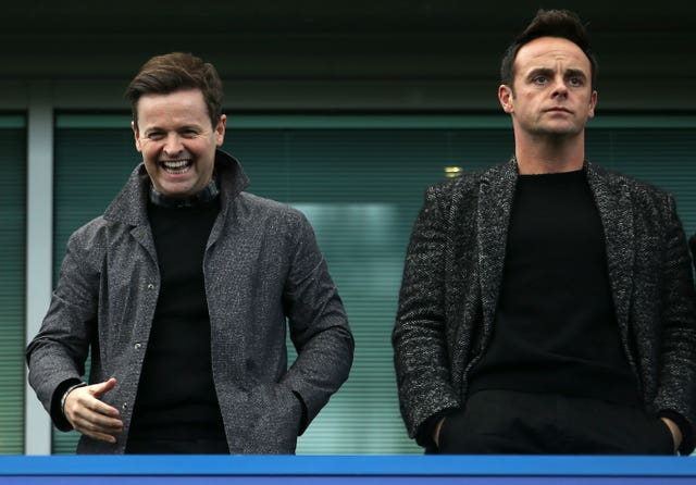 Declan Donnelly and Ant McPartlin at Stamford Bridge