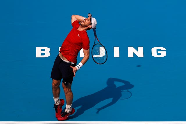 Andy Murray has reached the last eight in Beijing