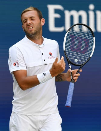 It was a frustrating day for Dan Evans