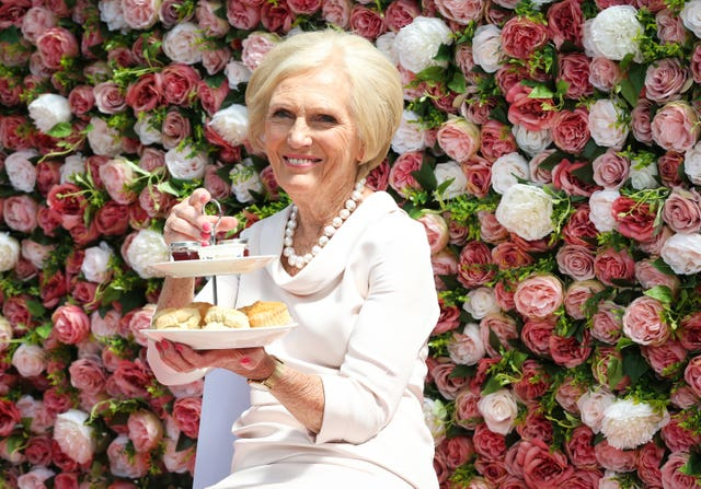 Mary Berry at the Cath Kidston largest cream tea party