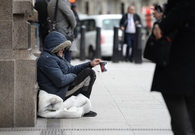 Campaigners said figures included the deaths of people living on the streets, sofa surfing, and in emergency or temporary accommodation (Nick Ansell/PA Wire)
