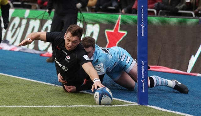 Saracens beat Glasgow 38-19 at the Alianz Arena before the two were drawn against each other in the Champions Cup quarter-finals