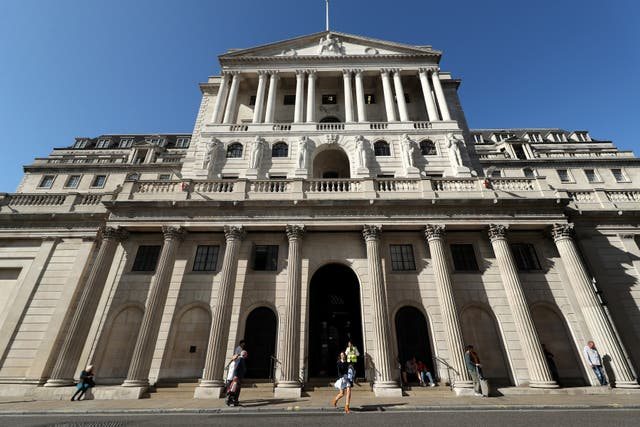The Bank of England, in the City of London (Yui Mok/PA)