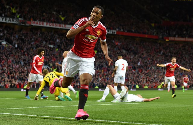 Anthony Martial marked his Manchester United debut with a fine goal in a 3-0 win over Liverpool in September 2015.