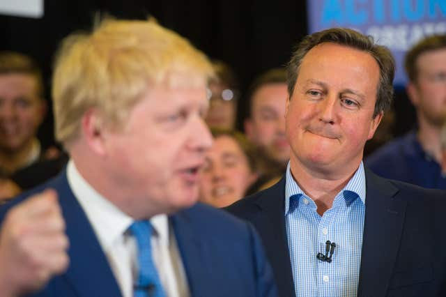 David Cameron with Boris Johnson