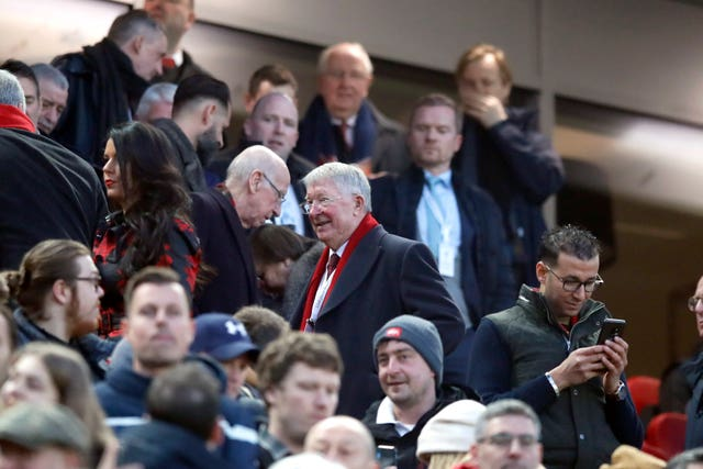 Former United boss Sir Alex Ferguson was watching on at Anfield