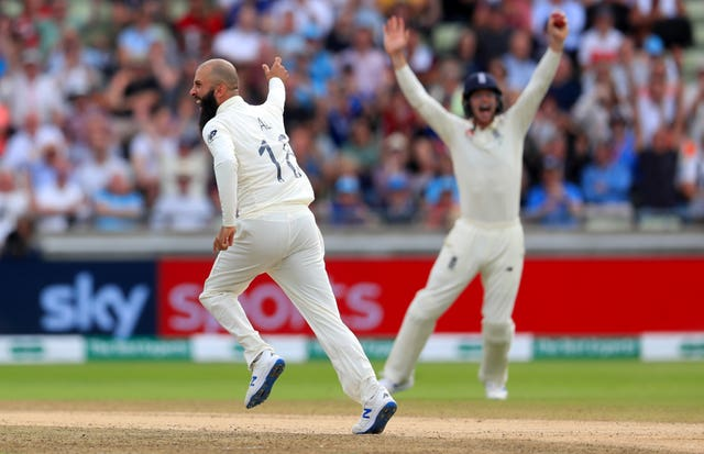 James Anderson's absence increases the pressure on England's other bowlers, including Moeen Ali (left)