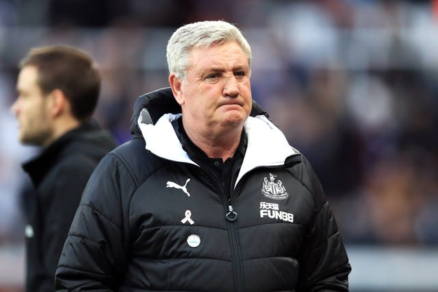 It was a frustrating day for Newcastle boss Steve Bruce