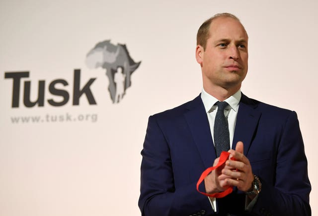 William has praised the nominees and winners of this year's Tusk Conservation Awards. Toby Melville/PA Wire