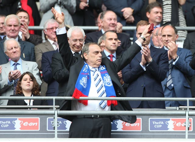 Portsmouth manager Avram Grant acknowledges the fans after collecting his runners up medal at the FA Cup final