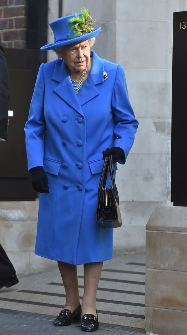The Queen during a visit to Watergate House in London to mark the centenary of GCHQ
