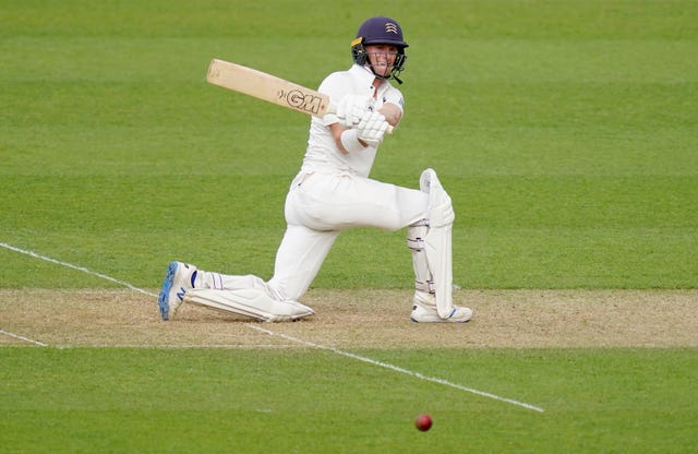 Middlesex's Nick Gubbins rediscovered his form with a hundred on day one of the Bob Willis Trophy fixture at Surrey