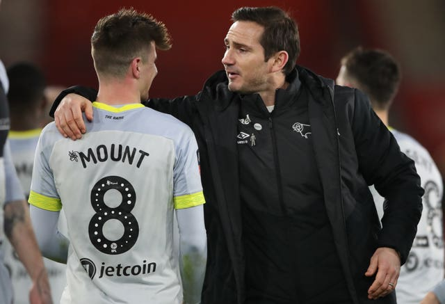 Mason Mount played under Frank Lampard at Derby last season