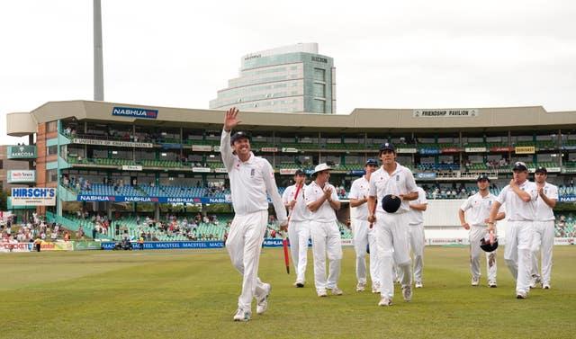 England celebrate an innings win in Durban in 2009