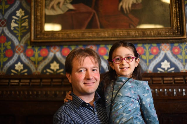 Five-year-old Gabriella Zaghari-Ratcliffe with her father Richard Ratcliffe