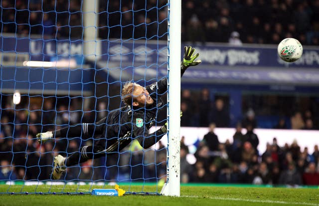 Kasper Schmeichel was the Leicester hero in the penalty shootout against Everton