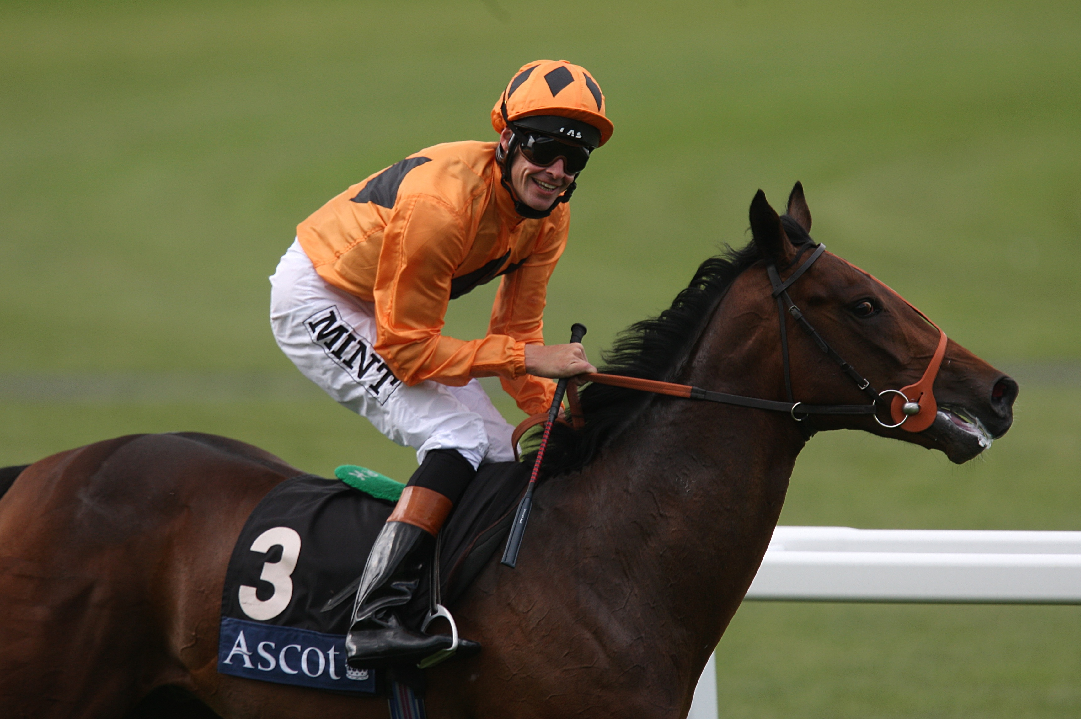 Richard Hughes and Canford Cliffs after winning the 2009 Coventry Stakes