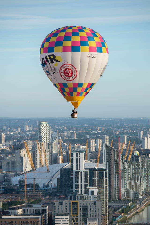 Hot air balloons over London