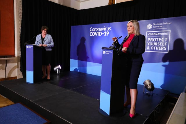 First Minister Arlene Foster (left) and Deputy First Minister Michelle O'Neill