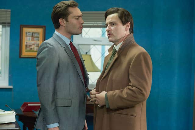 Ed Westwick (left) and Lee Ross in White Gold