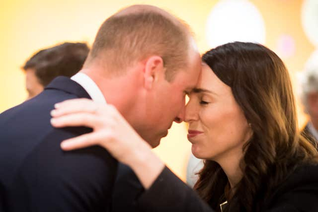 William with prime minister Jacinda Ardern