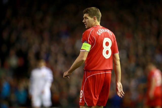 Steven Gerrard was Liverpool's number eight for 11 years (Peter Byrne/PA).