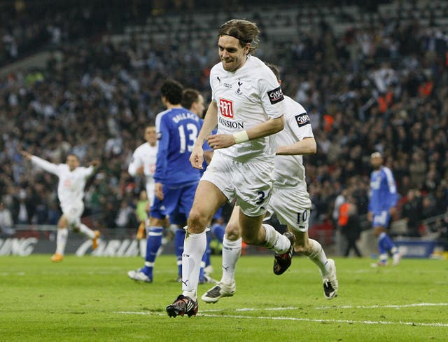 Jonathan Woodgate claimed Tottenham's extra-time winner in the 2008 League Cup victory over Chelsea